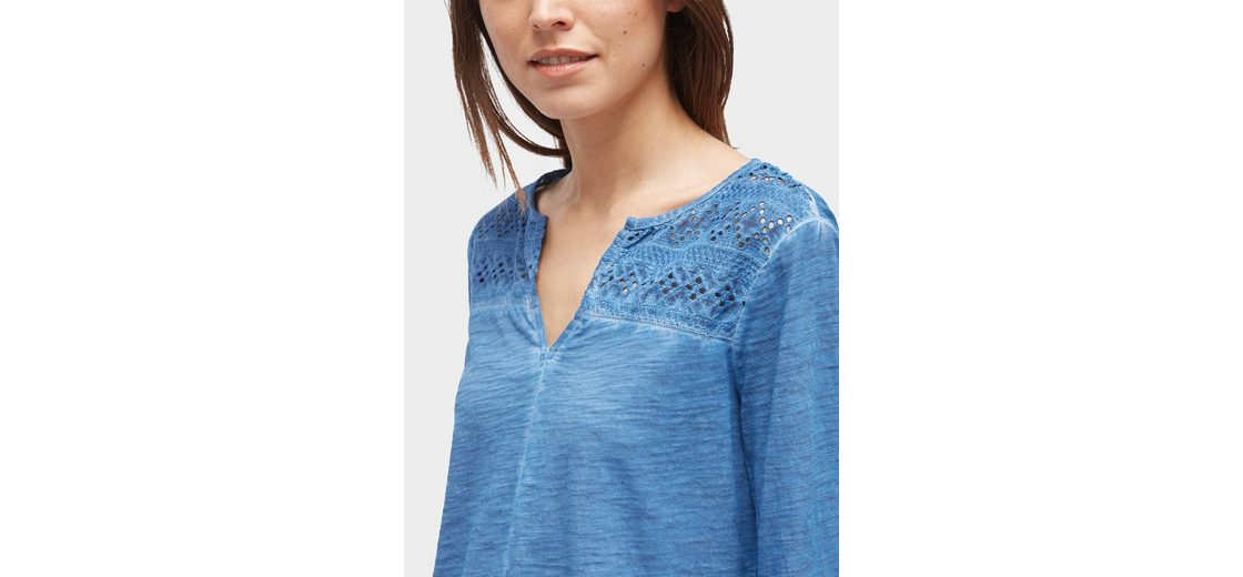 Schnelle Lieferung Tom Tailor Blusenshirt Shirt mit Volantärmeln und Lochstickerei Outlet Brandneue Unisex Frei Verschiffen Angebot kqeWJH