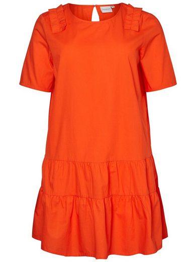 JUNAROSE Feminines Web Kleid