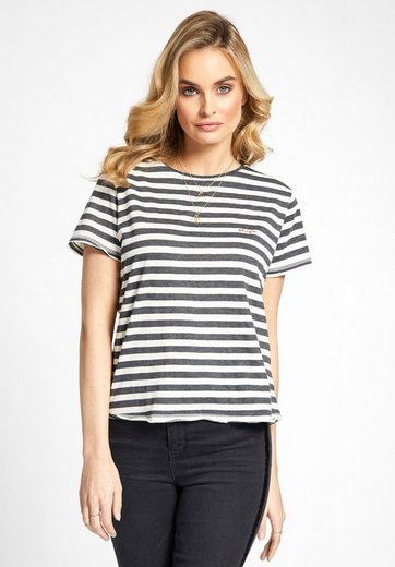 Khujo Oversized Shirt Yaffa With Stripe Pattern