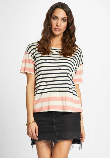 khujo Oversize-Shirt GEESKA, mit Streifenmuster