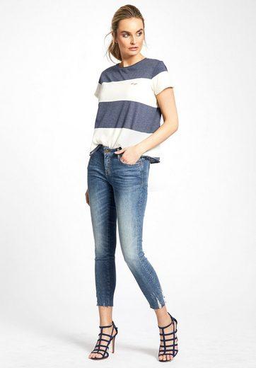 khujo Oversize-Shirt YAFFA, mit Blockstreifen