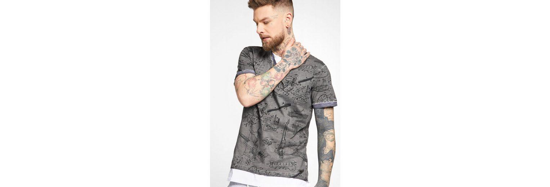 khujo T-Shirt TENDRIK, mit Gitarren-Print