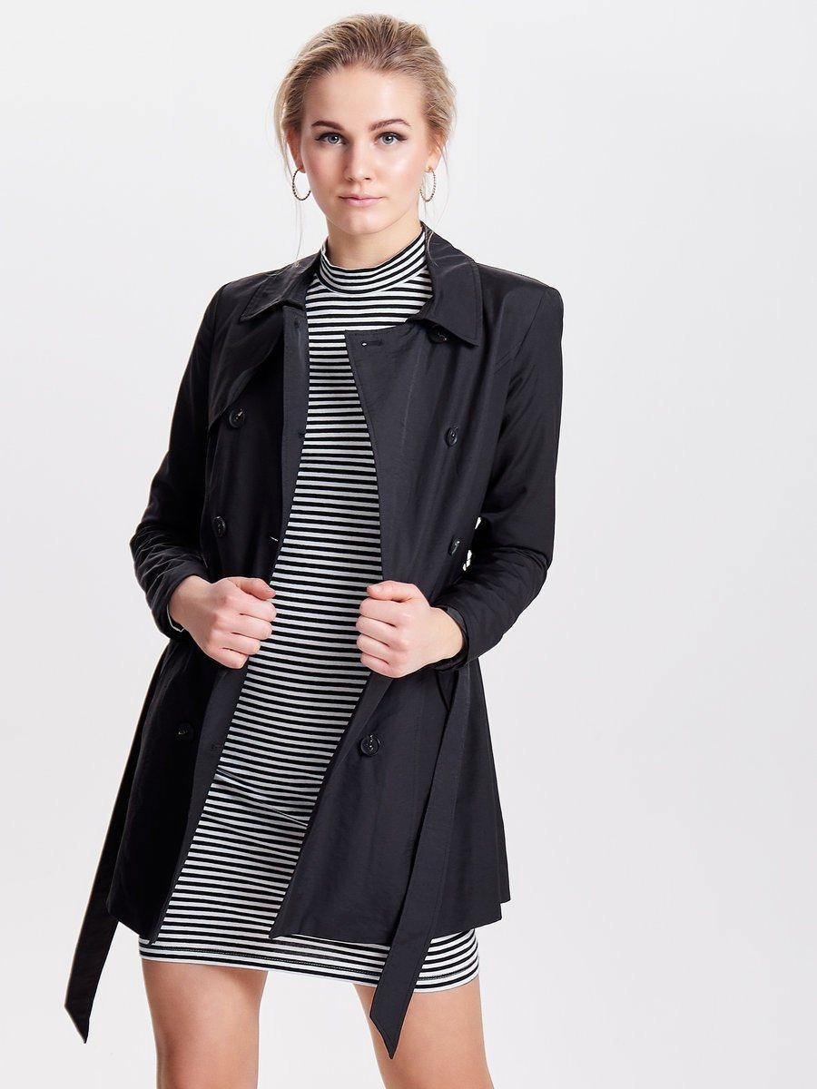 Only Klassischer Trenchcoat | Bekleidung > Mäntel > Trenchcoats | Nylon | Only