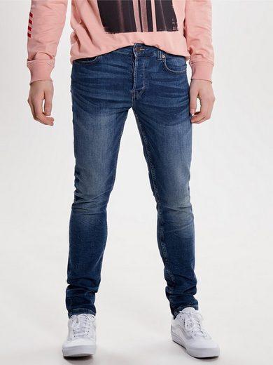 ONLY & SONS Loom blue jog Slim Fit Jeans