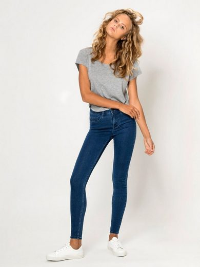 Pieces Körperbetonte Jeans mit Normal Waist