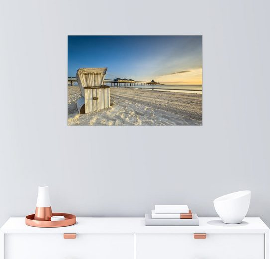 Posterlounge Wandbild - Dennis Stracke »Seebrücke Heringsdorf Usedom Ostsee«