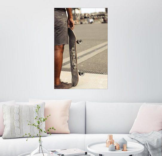 Posterlounge Wandbild - Christian Seidenberg »Skateboard Freiheit II - farbig«