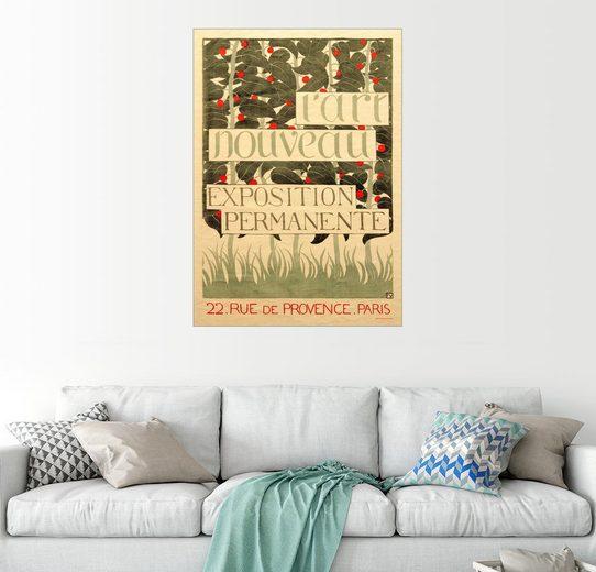 Posterlounge Wandbild - Felix Edouard Vallotton »Plakat für L'Art Nouveau«
