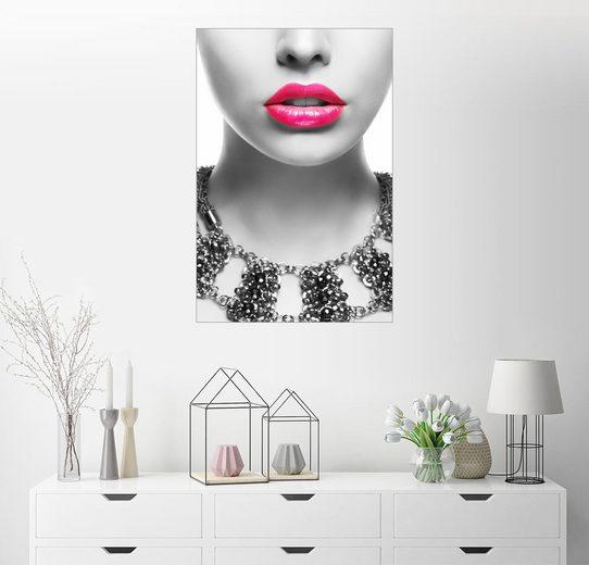 Posterlounge Wandbild »Pink Kiss«