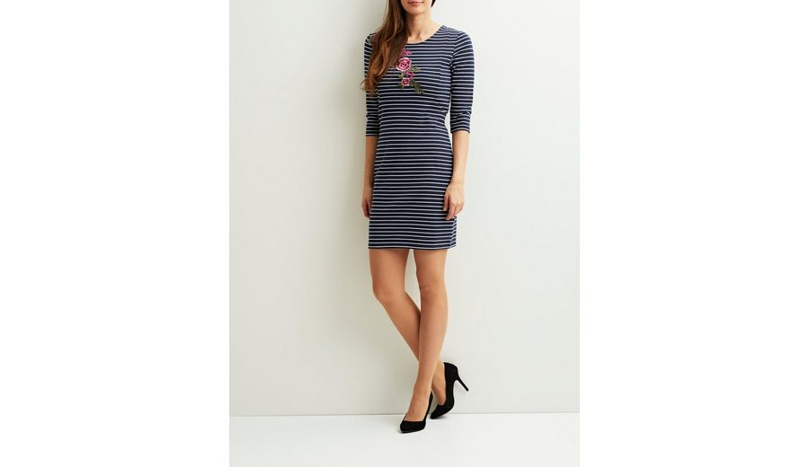 Vila Gestreiftes 3/4-Ärmel Kleid Freies Verschiffen Ursprüngliche Günstiges Preis Original Kaufen Günstig Online 2VbhV2kHy1