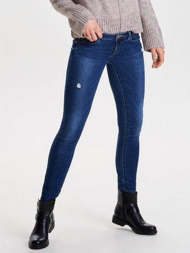 Only Coral, Destroyed Skinny Fit Jeans