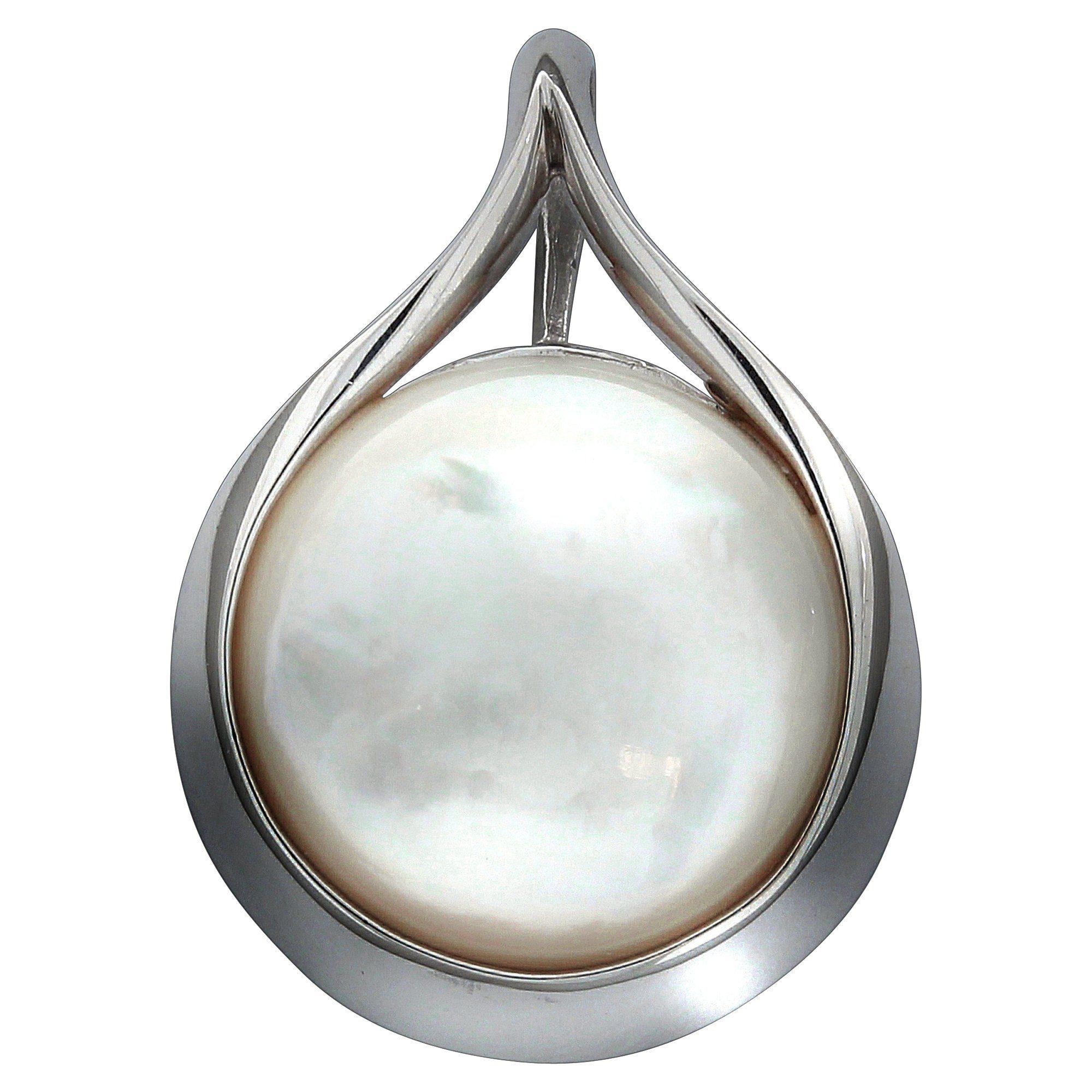 Firetti Anhänger »925/- Sterling Silber rhod. Perlmutt weiss«