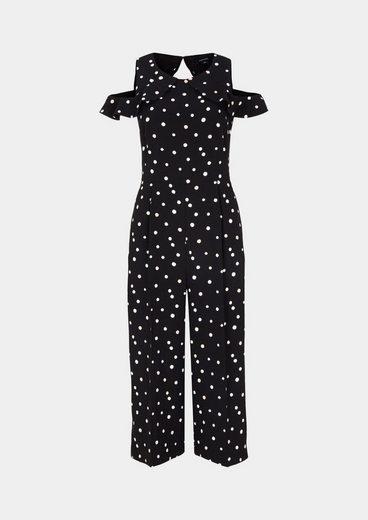 Comma Extravaganter Krepp-jumpsuit Mit Dot-alloverprint