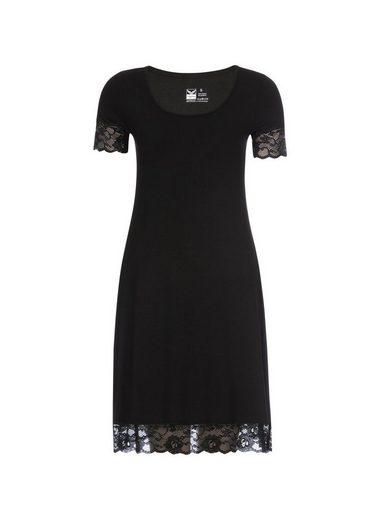 TRIGEMA Viskose Kleid mit Spitze