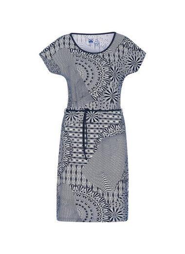 TRIGEMA Viskose Kleid mit Bindegürtel