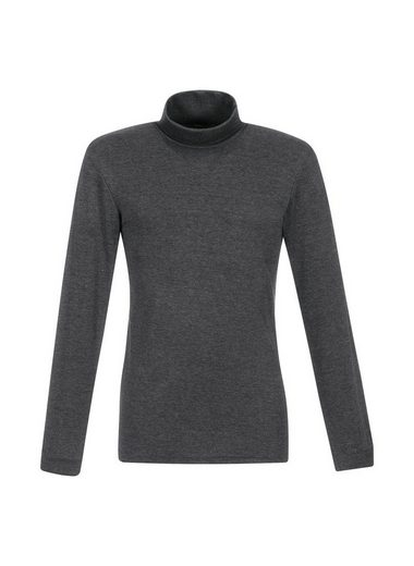 Trigema Melange Langarm Ski / Track Troll Collar Pullover