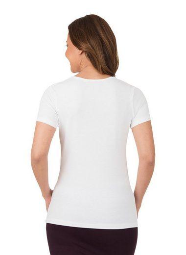 TRIGEMA Rundhalsshirt aus Viskose