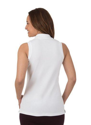 TRIGEMA Ärmelloses Poloshirt mit Swarovski® Kristallen