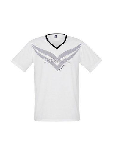 TRIGEMA V-Shirt in Retrooptik