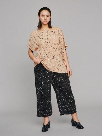 JUNAROSE Gepunktete Bluse