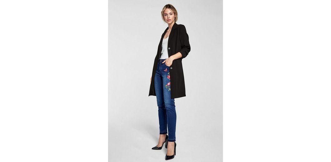 s.Oliver BLACK LABEL Sienna Slim: Embroidery-Jeans Billig Wirklich 1Gy7CfN