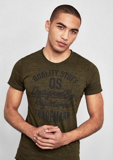 Q/S designed by Label-Shirt mit Melange-Effekt