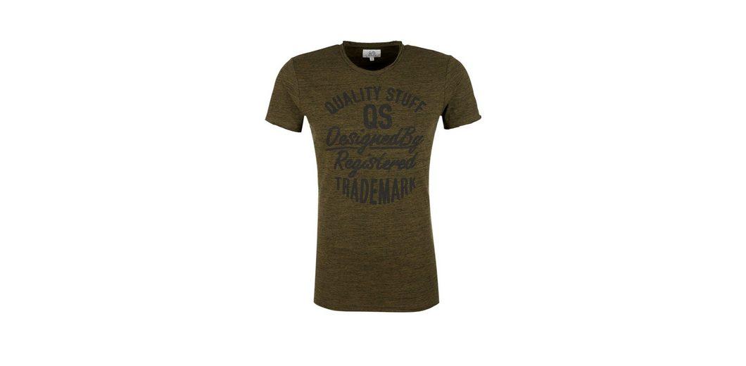 Q/S designed by Label-Shirt mit Melange-Effekt Limitierte Auflage Online-Verkauf yUWYlCu2k