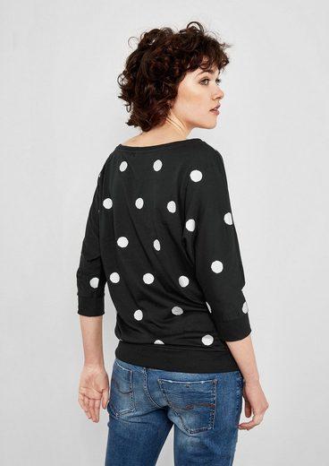 Q/s Designed By Fledermausshirt Mit Metallic-dots