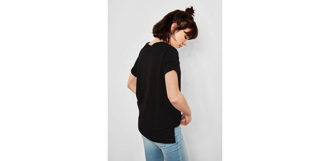 Einkaufen Outlet Online Billig Suchen Q/S designed by Jerseyshirt mit Applikation F6J1XcE