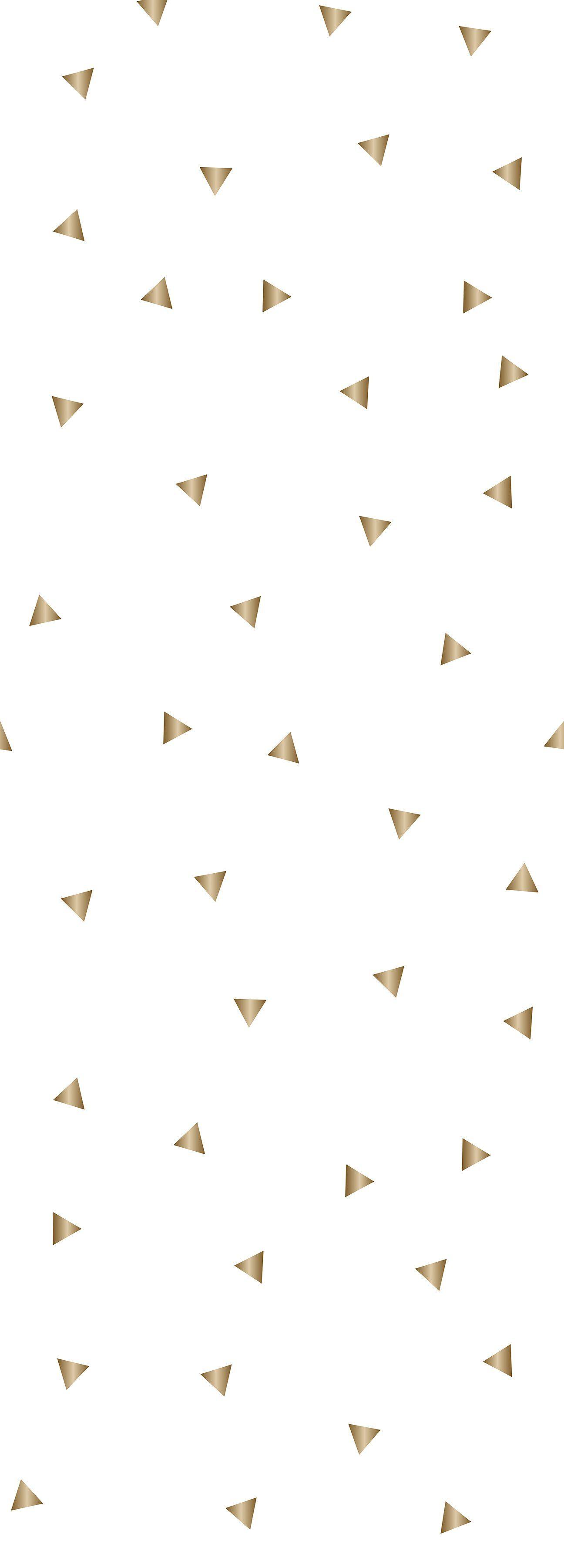 QUEENCE Selbstklebefolie »Dreiecke-Gold«, Tapete 90 x 250 cm Vinylfolie