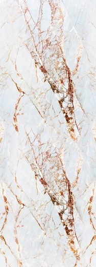 QUEENCE Vinyltapete »Marmor-Weiß«, 90 x 250 cm, selbstklebend