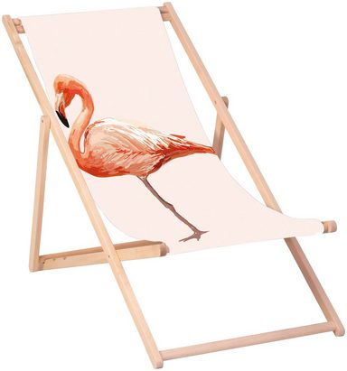 QUEENCE Liegestuhl »Flamingo«, 120 x 60 cm