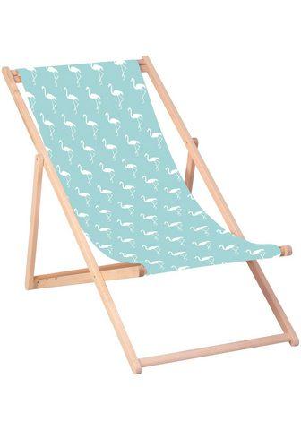 QUEENCE Paplūdimio kėdė »Flamingos-Blau« 120 x...