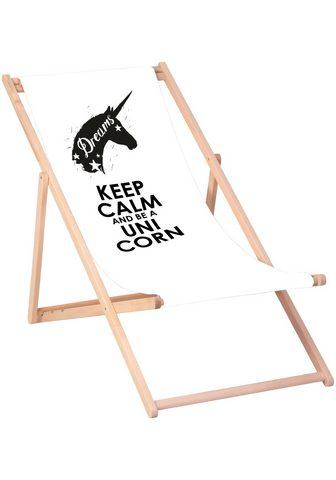 QUEENCE Paplūdimio kėdė »Keep calm and be a un...
