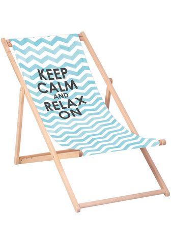 QUEENCE Paplūdimio kėdė »Keep calm and relax o...