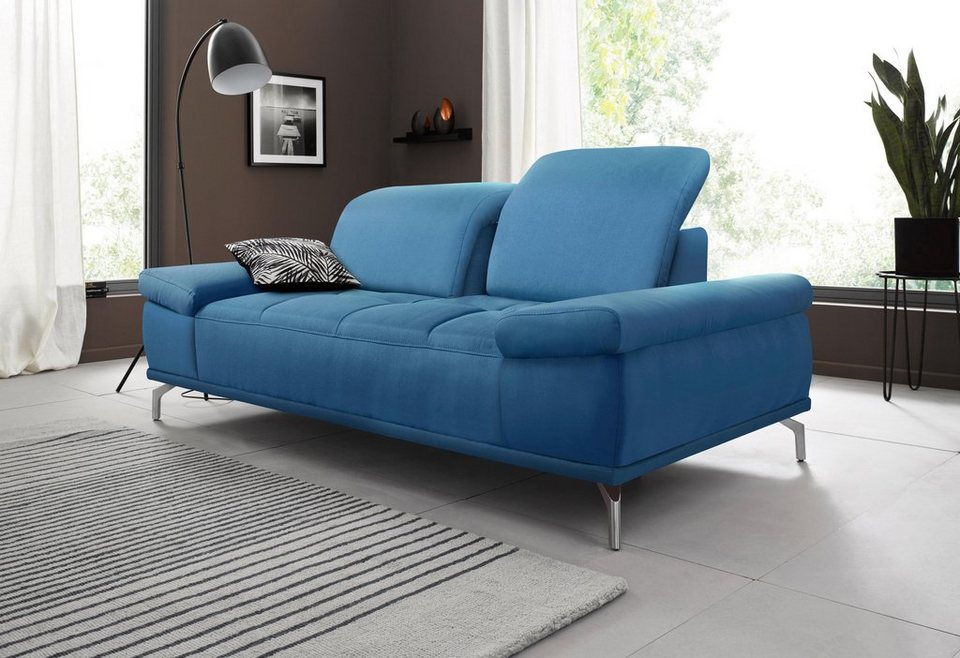places of style 2 sitzer sofa caluna mit sitztiefen und kopfteilverstellung online kaufen otto. Black Bedroom Furniture Sets. Home Design Ideas