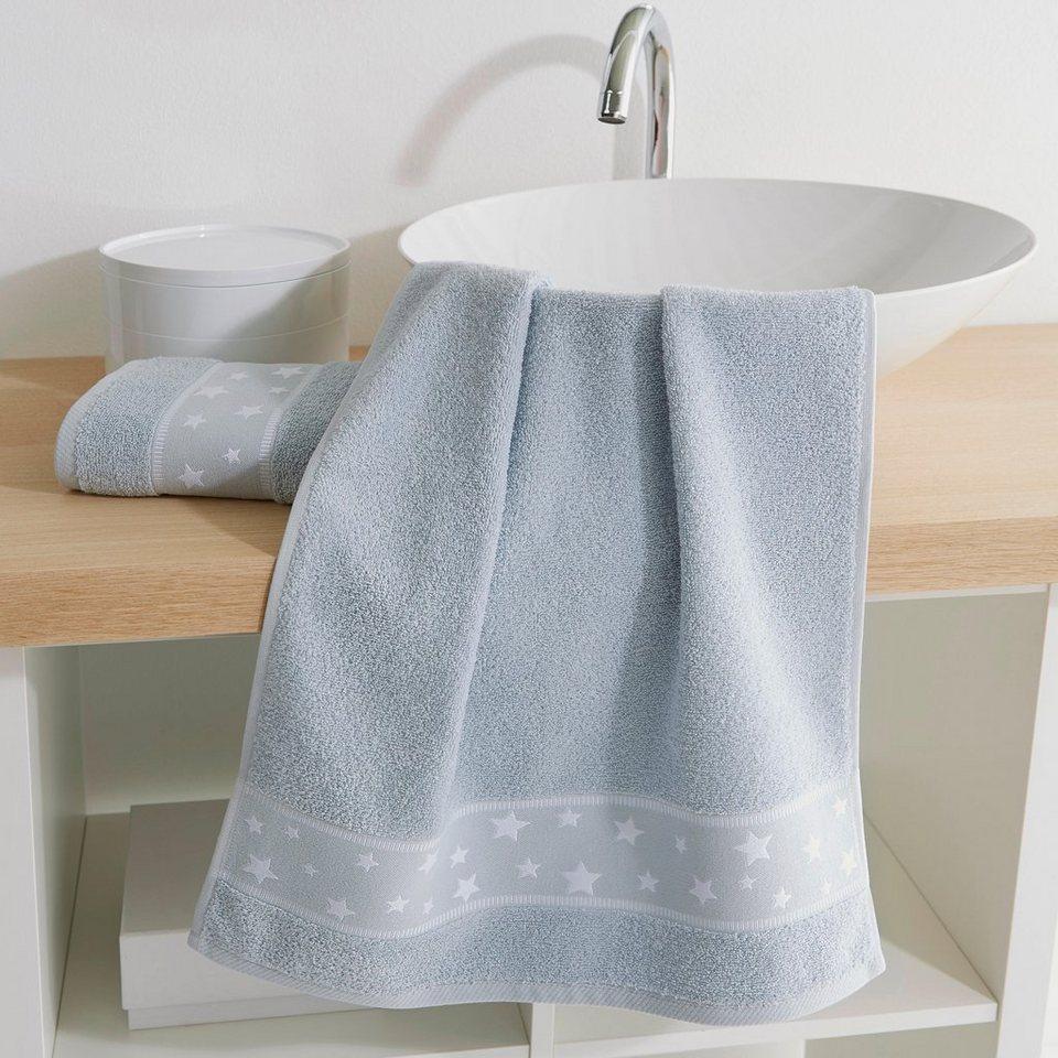 handt cher kinder stars dyckhoff mit eingewebten. Black Bedroom Furniture Sets. Home Design Ideas