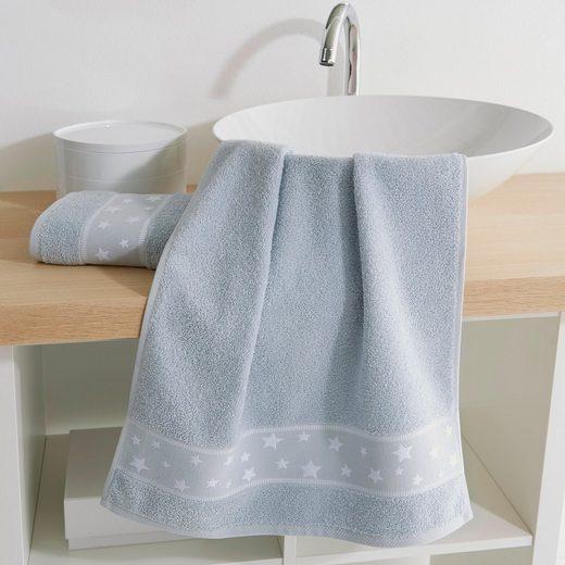 Dyckhoff Handtücher »Kinder Stars« (2-St), mit eingewebten Sternen