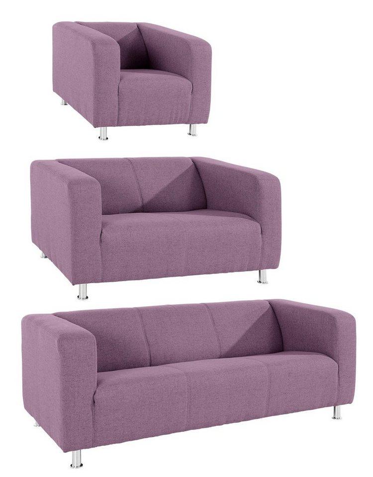inosign garnitur tuba in moderner kubischer form online kaufen otto. Black Bedroom Furniture Sets. Home Design Ideas