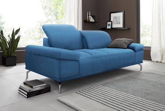 Places of Style 3-Sitzer »Caluna«, mit Sitztiefen- und Kopfteilverstellung