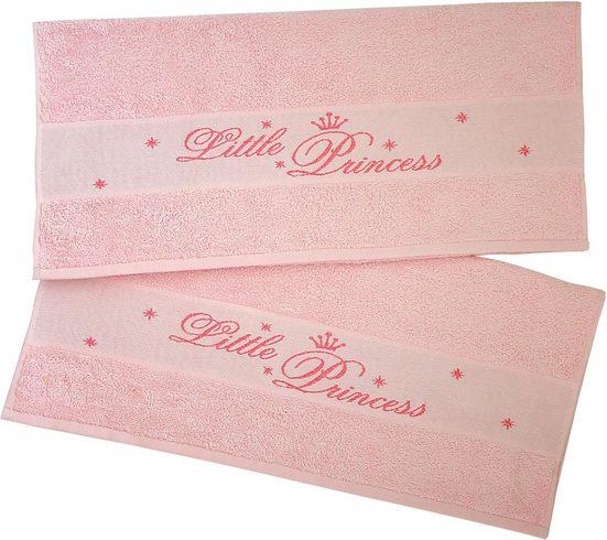 Dyckhoff Handtücher »Little Princess« (2-St), mit eingewebten Schriftzug
