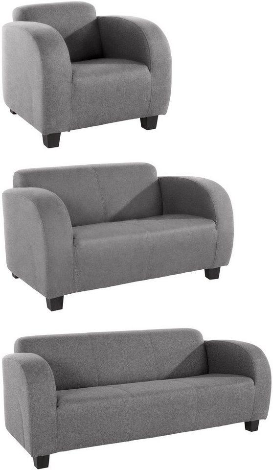 inosign garnitur cuba mit geschwungenen armlehnen online kaufen otto. Black Bedroom Furniture Sets. Home Design Ideas