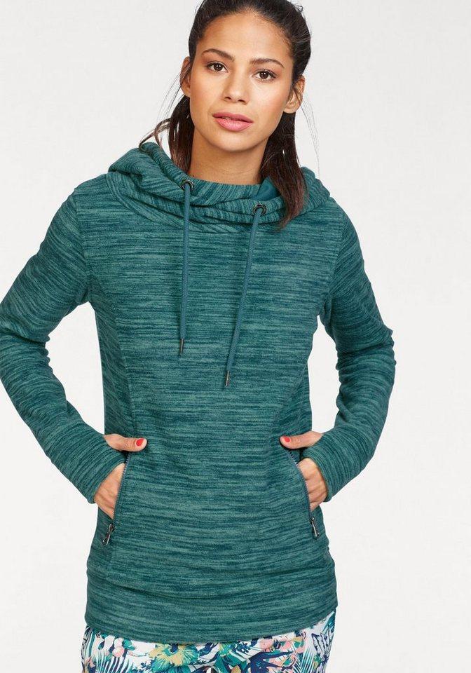 KangaROOS Fleecepullover mit Melange-Effekt | Sportbekleidung > Fleecepullover | Grün | KangaROOS