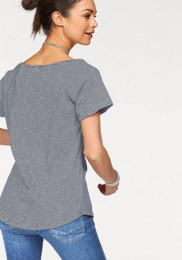 Cross Jeans® T-shirt, Mit Trendy Allover-ringel
