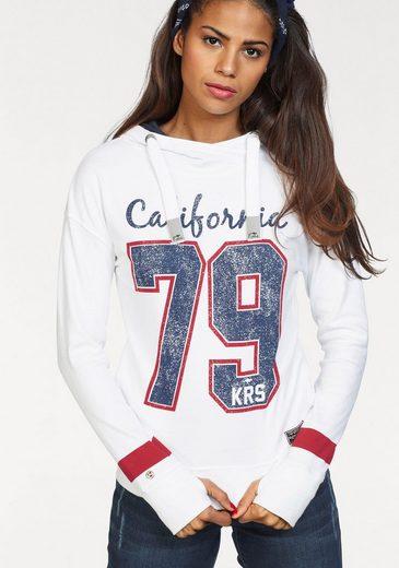 KangaROOS Kapuzensweatshirt, mit trendigem College-Print