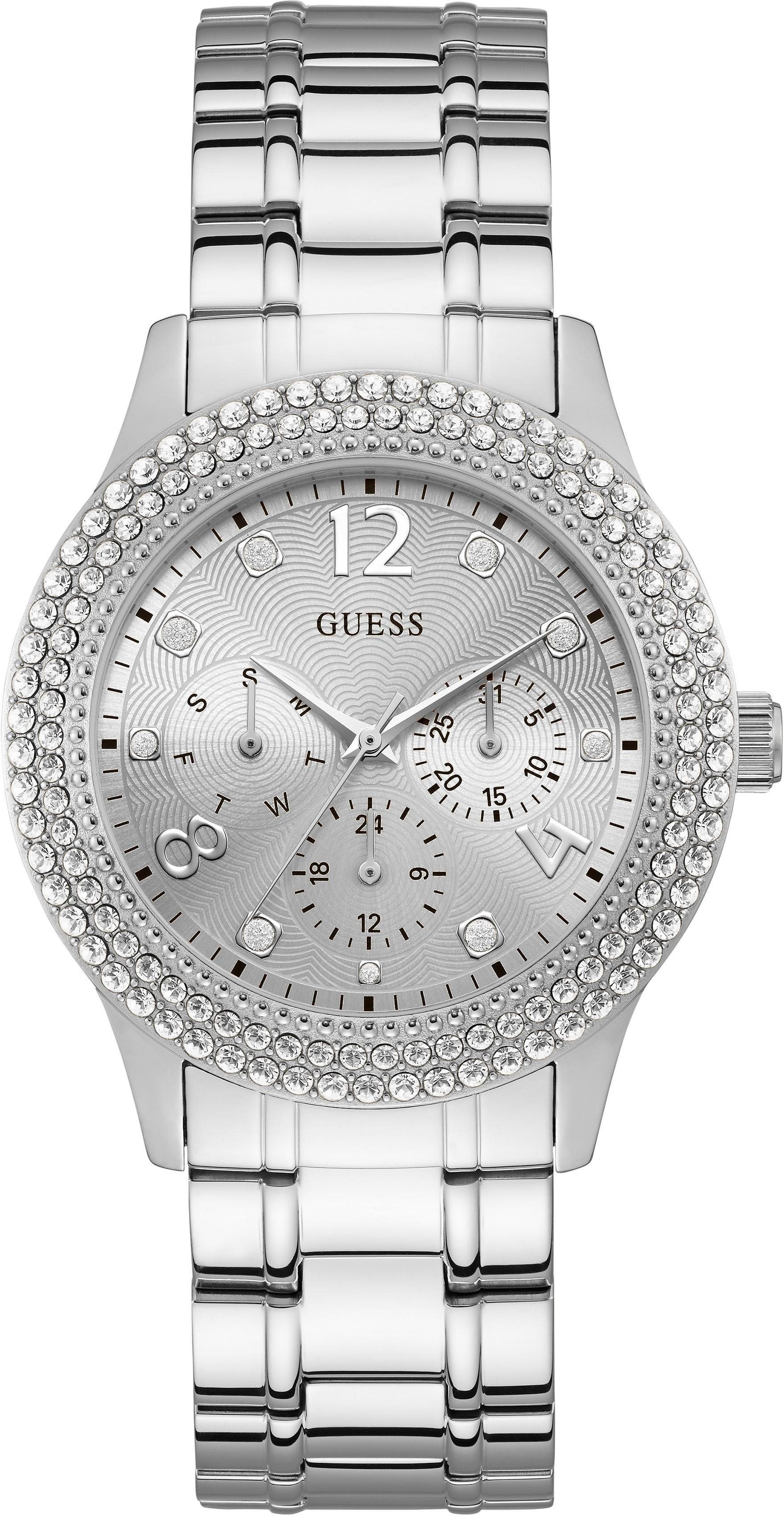 Guess Multifunktionsuhr »BEDAZZLE, W1097L1«