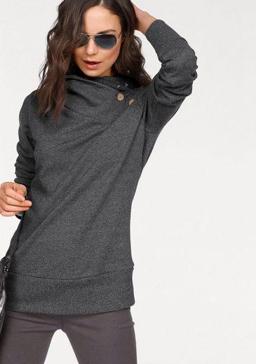 NAVIGAZIONE blu Sweatshirt mit breitem Kragen, asymmetrisch geschnitten