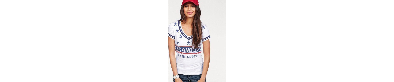 KangaROOS T-Shirt, mit V-Ausschnitt und Print