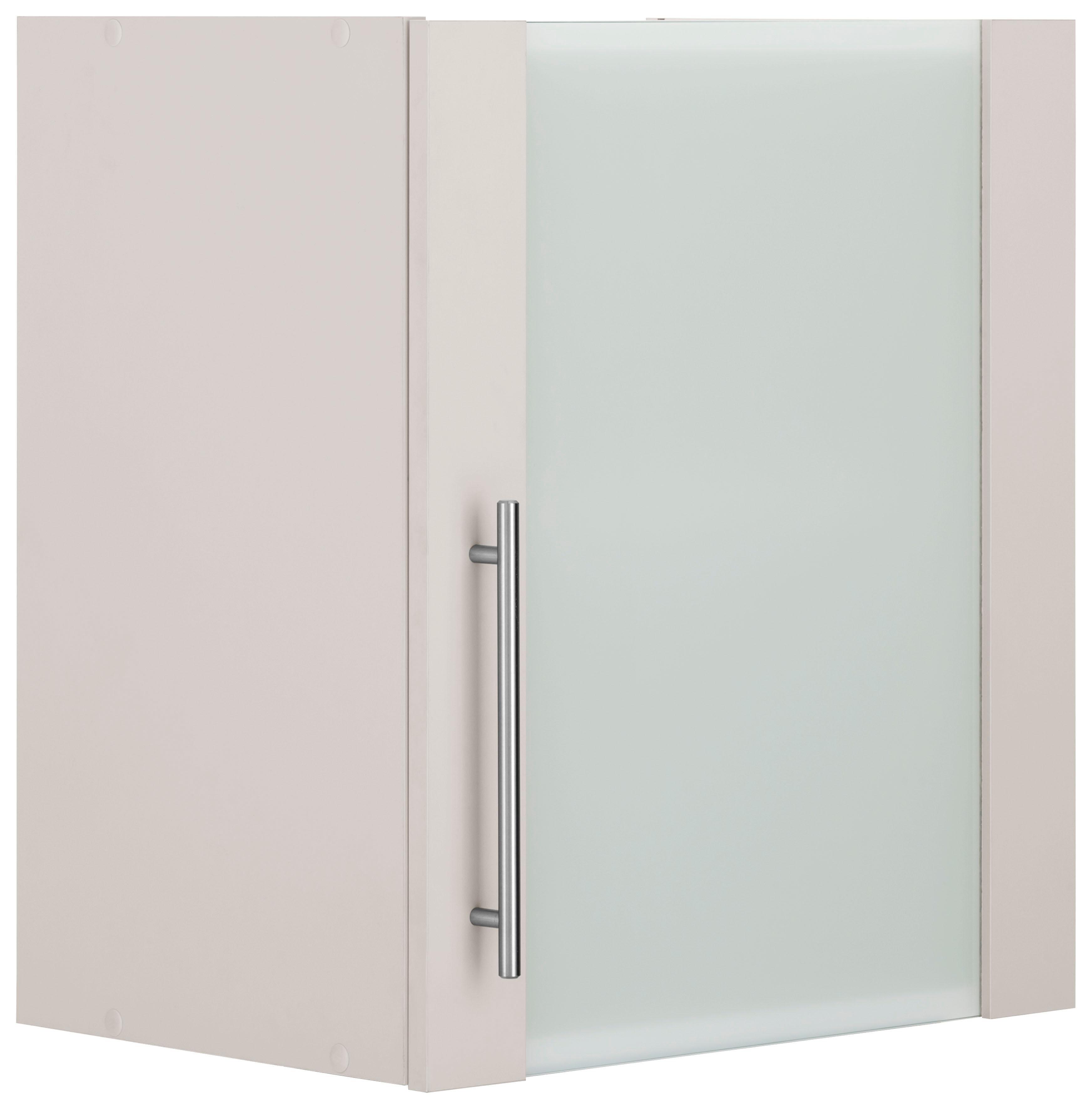 WIHO-Küchen Glashängeschrank »Cali«, Breite 50 cm   Wohnzimmer > Schränke > Weitere Schränke   Weiß - Anthrazit - Glanz   Melamin   wiho Küchen
