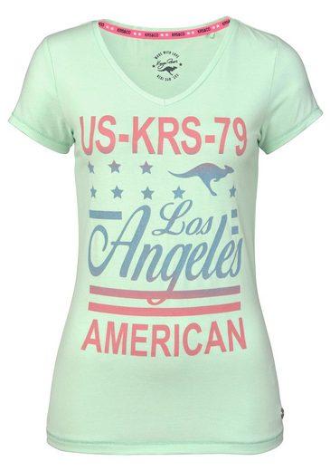 KangaROOS T-Shirt, mit großem Frontprint